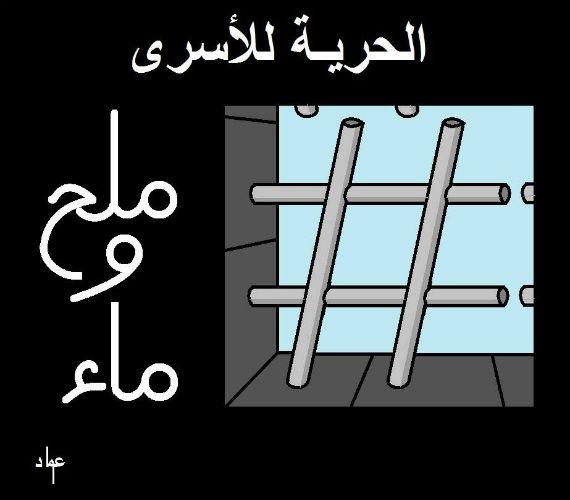 الحرية للأسري - مي وملح ، بريشه عماد عواد - خاص لأوراق عربية