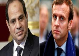 """السيسي يبحث مع  """" ماكرون """" العلاقات المصرية الفرنسية ويدعوه لزيارة القاهرة"""