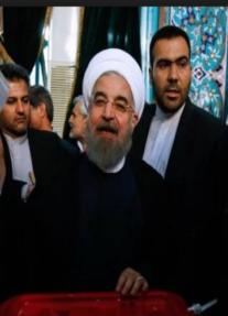 بــ 57 % روحاني يتفوق علي رجال الدين المحافظين ويفوز بولاية جديدة