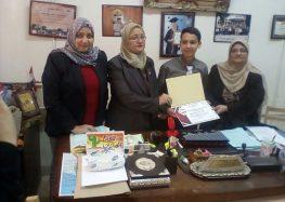 """خفاجي تكرم موهوب سوهاج الفائز في مسابقة """"معرض مصر للعلوم والهندسه"""""""