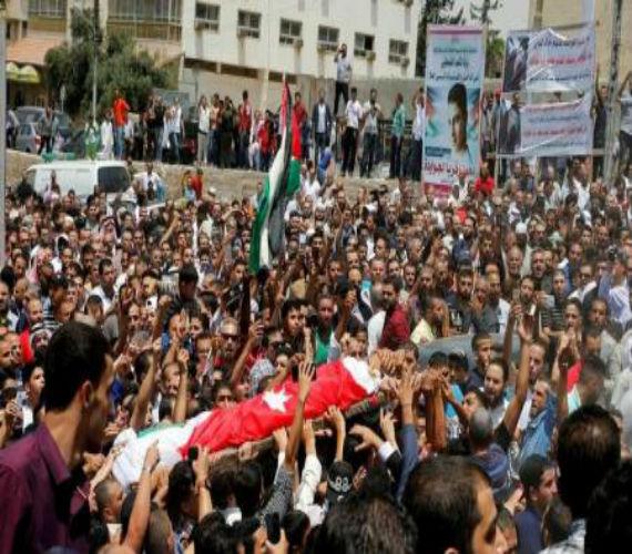 "Photo of خلال تشيع جنازة "" جواودة"" الأردنيون يطالبون بالغاء معاهدة السلام  … ونتنياهو يشكر الملك"