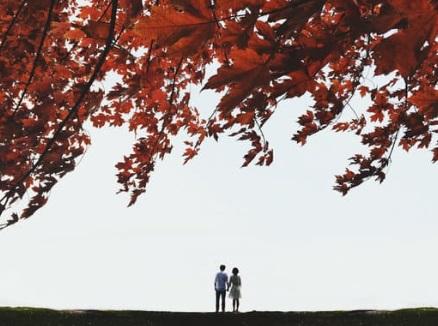 حبيبان يقفان معا ، أوراق عربية