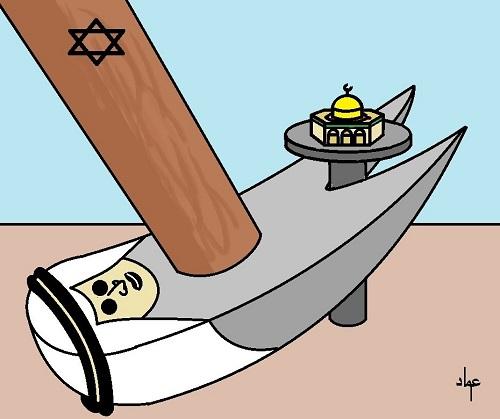 كاريكاتير أوراق عربية - عماد عواد ... القدس