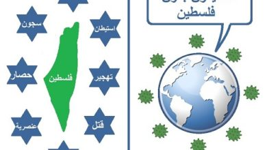 Photo of كاريكاتير أوراق عربية –  بريشة عماد عواد … كورونا وفلسطين