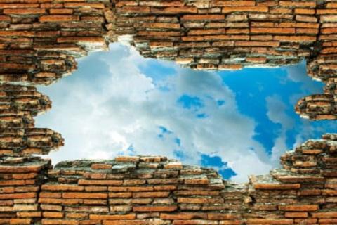 جدار محطم ، موقع أوراق عربية - خواطر