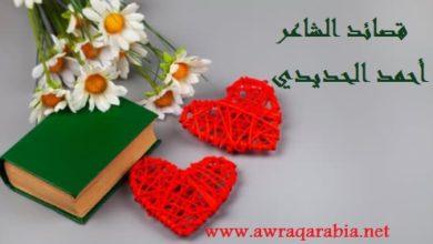 Photo of أحمد الحديدي لموقع أوراق عربية  ….. قلت لها : أجل- شعر فصحي
