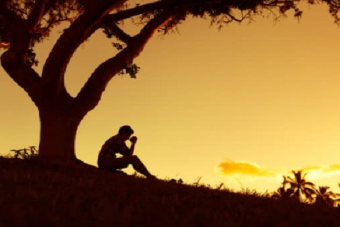 شخص تحت شجرة ، موقع أوراق عربية خواطر مميزة